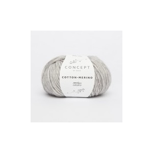 KATIA Cotton Merino 106 Gris Clair