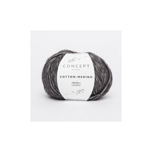 KATIA Cotton Merino 108 Noir