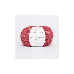 KATIA Cotton Merino 124 Rouge Carmin