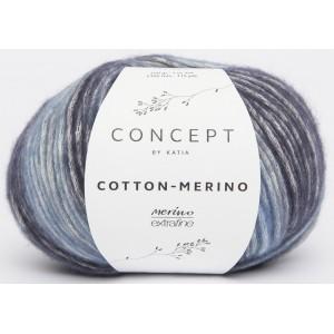 KATIA Cotton Merino 205 Bleu