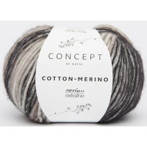 KATIA Cotton Merino 207 Gris foncé et moyen