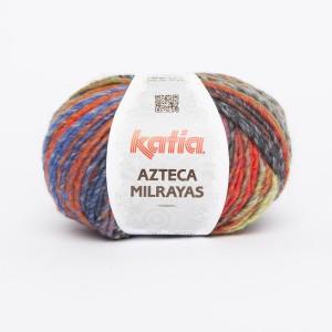 KATIA AZTECA MILRAYAS 713 Vert Orange Bleu Gris