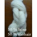 Mohair 50% laine 50% di Luce