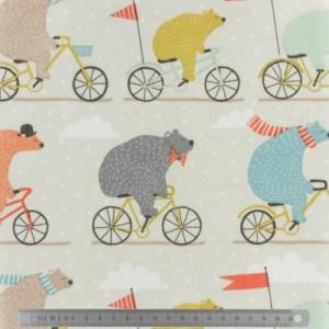 Tissu enduit Fryett's bear bike multic