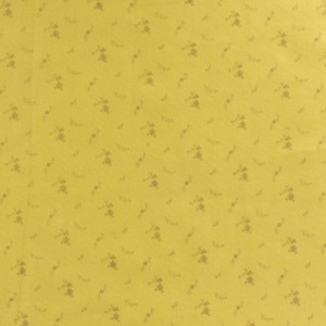 Tissu double gaze banane fleurs argent