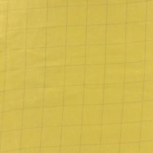 Tissu double gaze banane carreaux argent