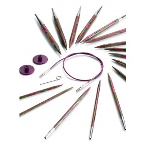 Kit 8 paires aiguilles circulaires interchangeables, Knit Pro