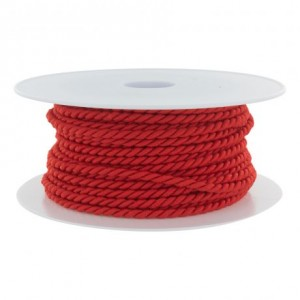 Cordon polyester Ø 3,5mm rouge