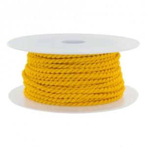 Cordon polyester Ø 3,5mm bouton d'or