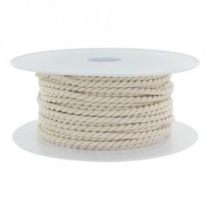 Cordon polyester Ø 3,5mm nacre