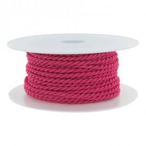 Cordon polyester Ø 3,5mm fuschia