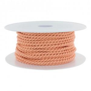 Cordon polyester Ø 3,5mm saumon