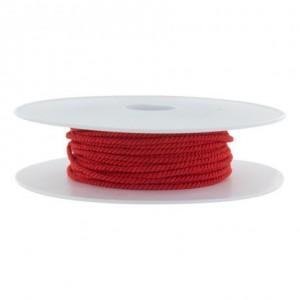 Cordon polyester Ø 2mm rouge