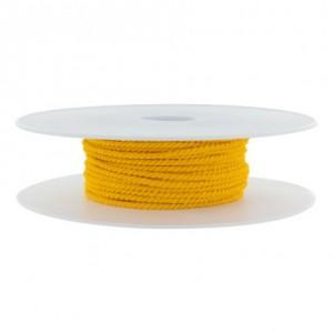 Cordon polyester Ø 2mm bouton d'or