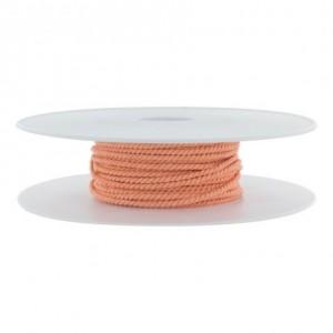 Cordon polyester Ø 2mm saumon