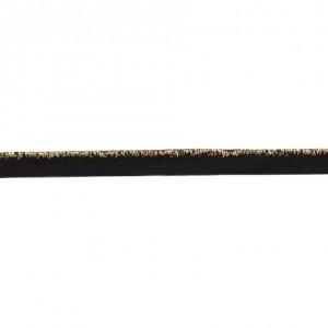 Passepoil élastique noir lurex argent 9 mm au mètre