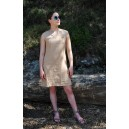ROBE LIN Taille 0 (36)