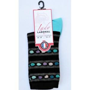 Mi chaussettes viscose-angora fond noir clair  talon turquoise foncé Sans couture
