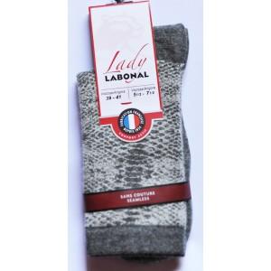 Mi chaussettes Viscose/Angora jacquard sans couture