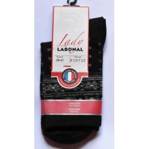 Mi chaussettes Viscose/Angora jacquard fond noir sans couture