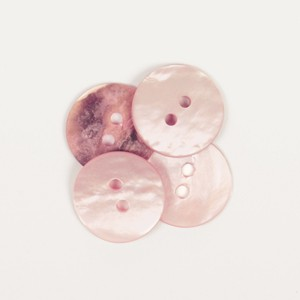 Nacre rond rose clair 15 mm