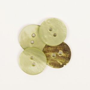 Nacre rond vert 15 mm