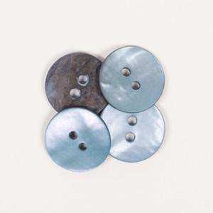 Nacre rond bleu 15 mm