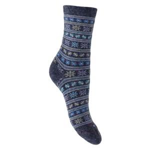 Mi chaussettes Viscose/Angora motifs norvégiens