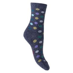 Mi chaussettes Viscose/Angora Pois colorés sans couture