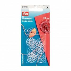 Boutons créatifs en plastique 22 mm