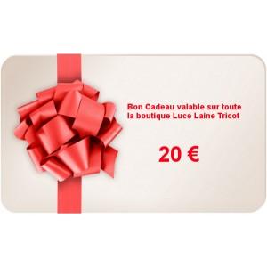 Bon Cadeau d'une valeur de 20 €