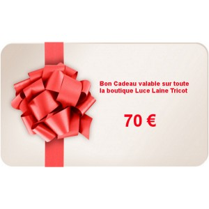 Bon Cadeau d'une valeur de 70 €