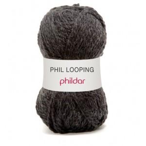 PHILDAR LOOPING CARBONE 0012 par 5