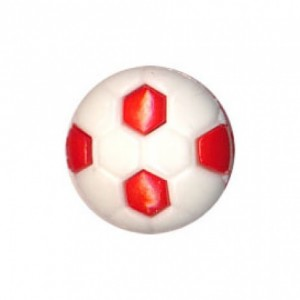 Bouton FOOT 12 mm Rouge