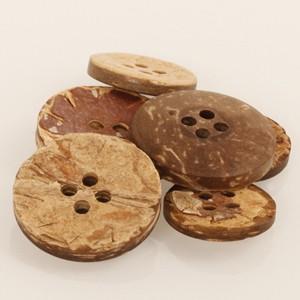Boutons en bois de coco 20 mm 515