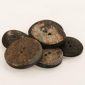 Boutons anguleux en corne de buffle 20 mm