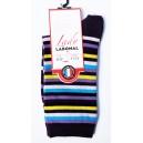 Mini chaussettes rayéées fond noir  Sans couture