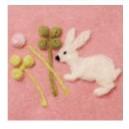Moule pour faire des appliqués motif lapin