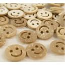 Boutons Smiley en bois de Coco