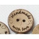 Boutons HandMade en coco 20 mm