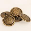 Boutons en métal doré 20 mm