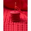 Bouton rond coloré 15 mm 13 Rouge