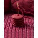 Bouton rond coloré 15 mm 14 Pavot